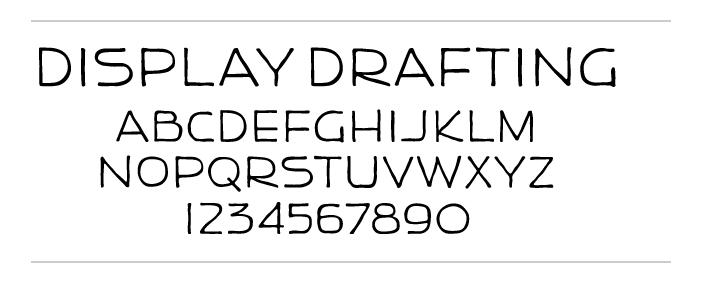 Neutraface Display Drafting  specimen.