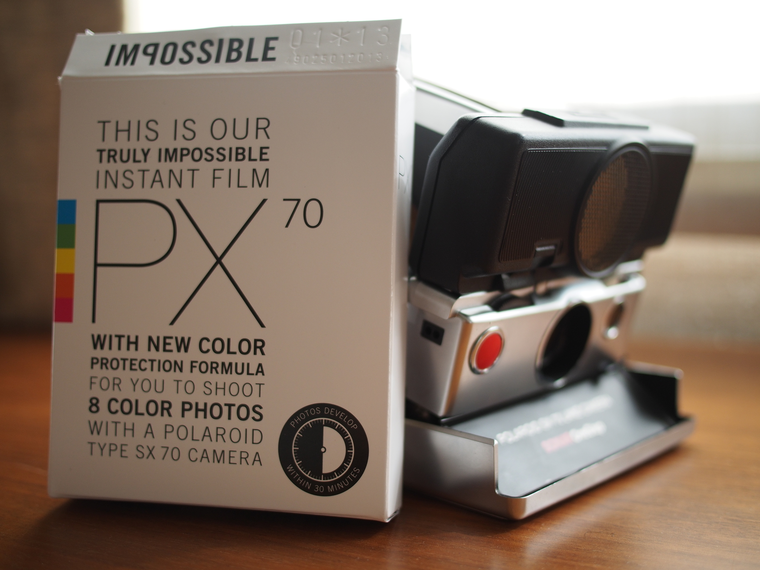 The Impossible film and theSX-70 Sonar OneStep Land Camera