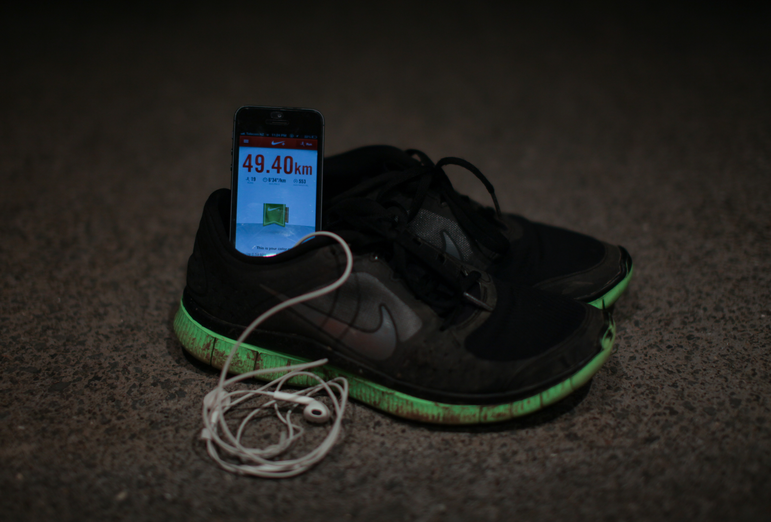 Some of the gear I use: The NIke + Running App and Nike Free's 3.0