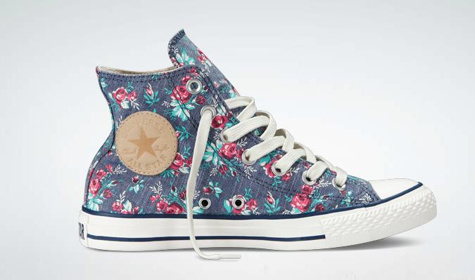 Floral  Converse