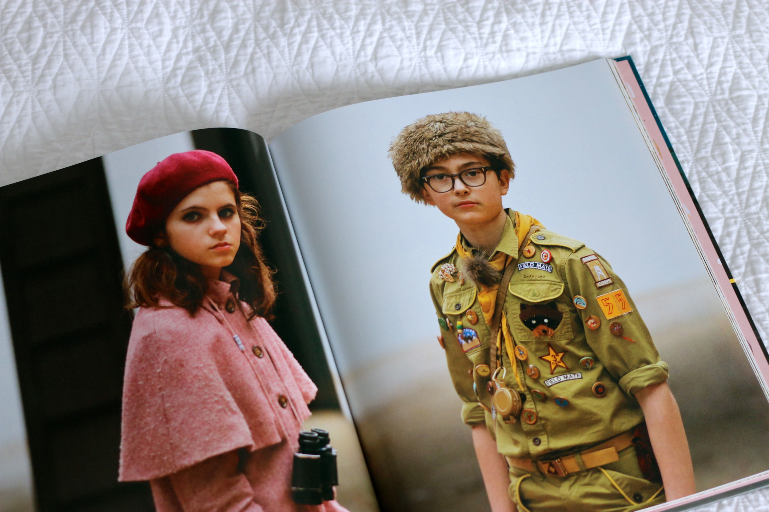 The Wes Anderson Collection Book Moonrise Kingdom portraits on ourcitylights