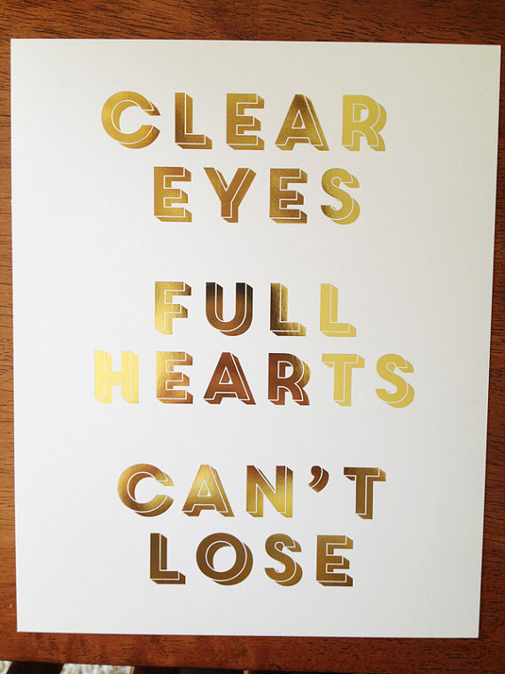Gold Foil print by Honey and Fitz