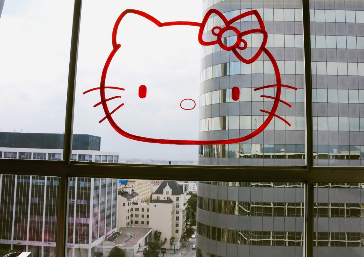 Hello Kitty at The LINE Hotel  2014 on ourcitylights.jpg