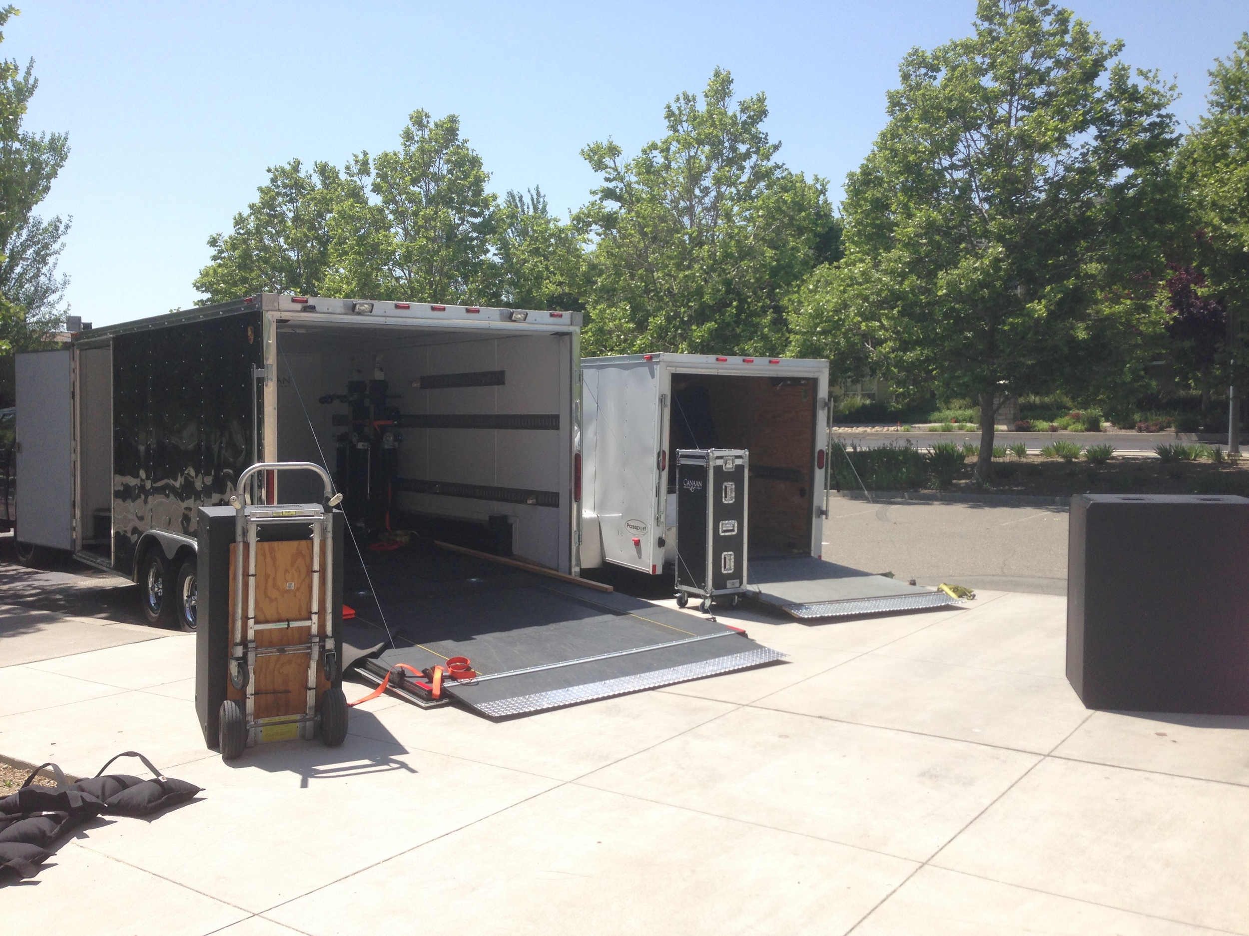 A two trailer load out.