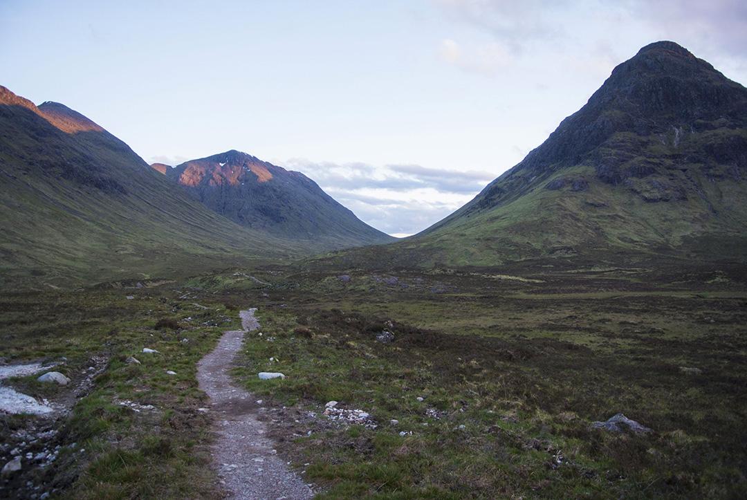The West Highland Way through Glen Coe