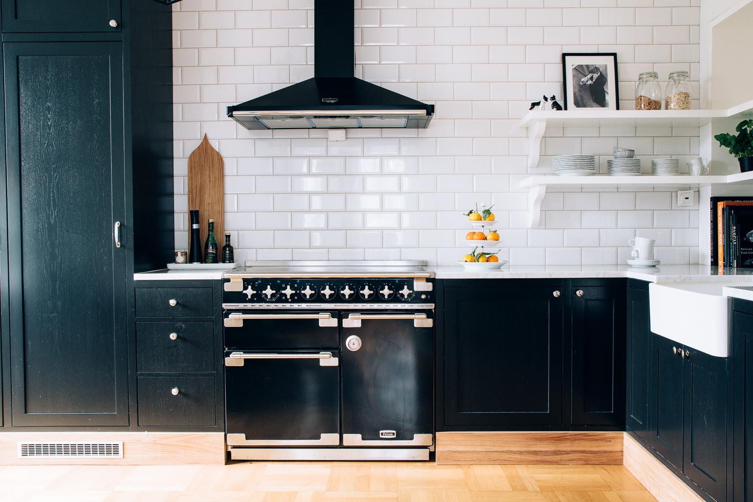 Kjøkkenet er utstyrt med en falcon-ovn