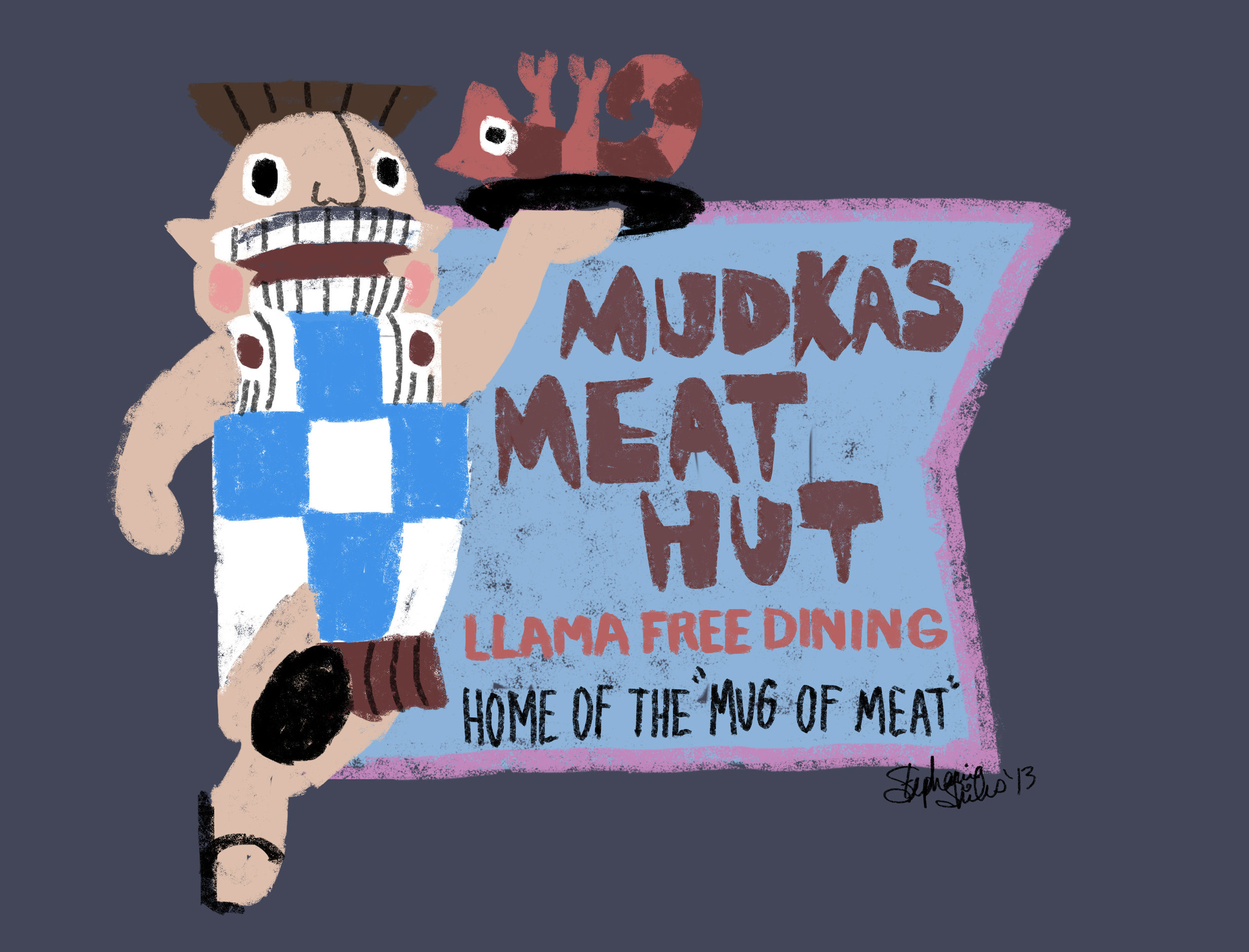 Mudka's Meat Hut Digital Illustration