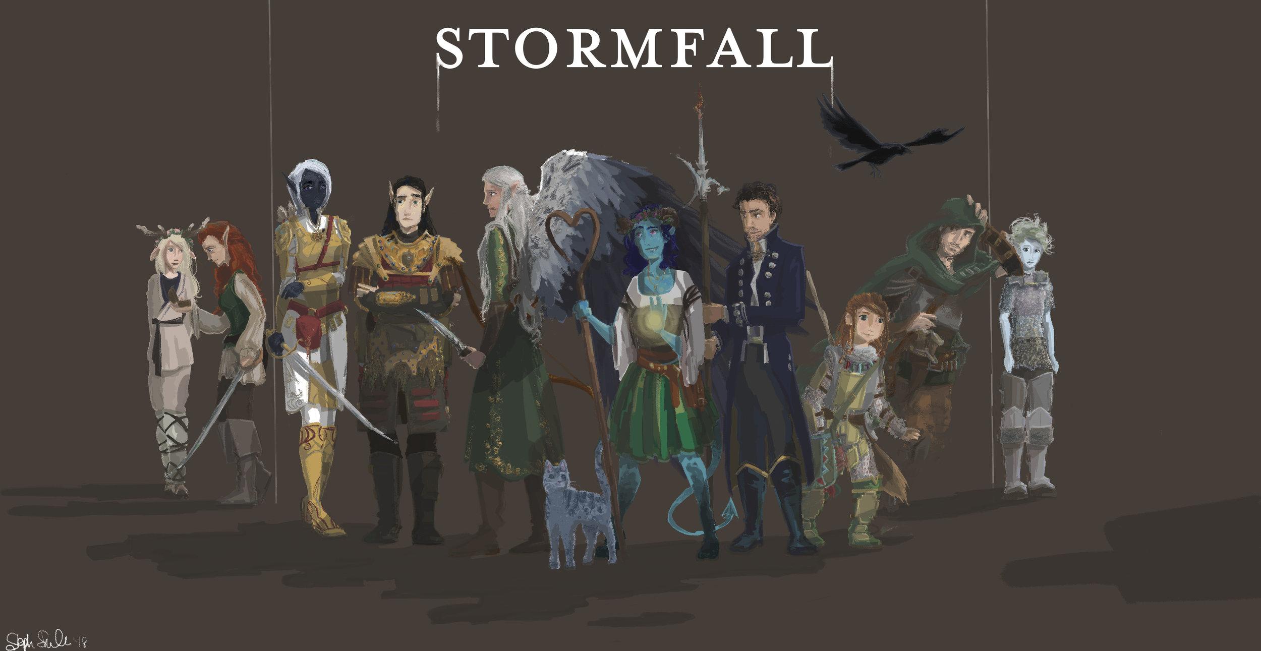 Stormfall DnD Group Illustration