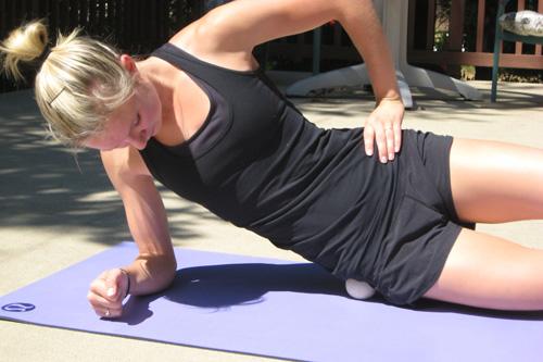 Woman doing self massage