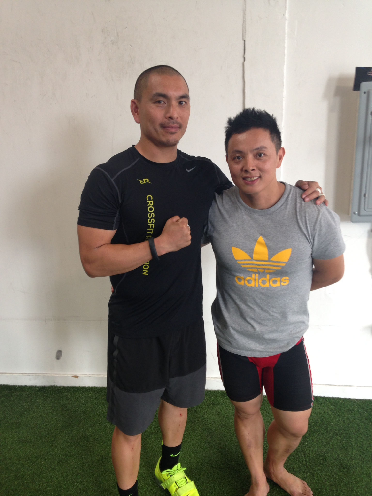Jesse's coaching is always improving and evolving. Here he is with lifting great Coach Wu.