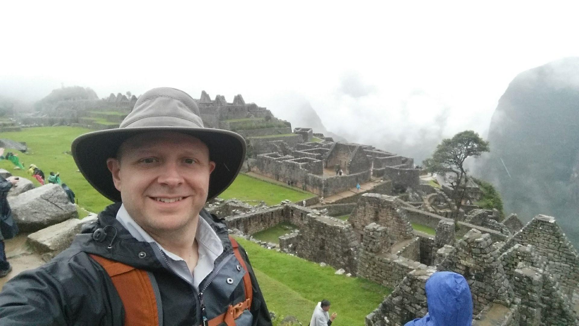 Bill adventuring at Machu Picchu