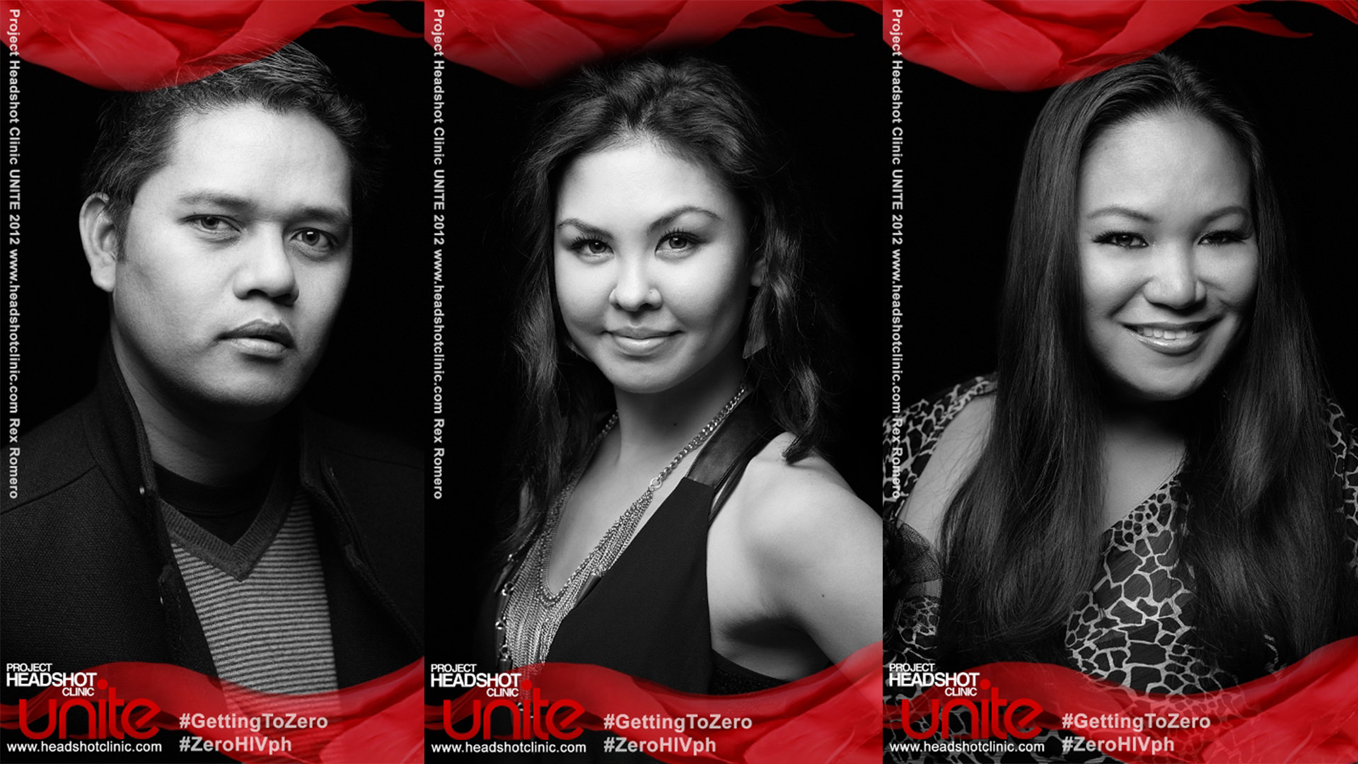 UNITE - a Project Headshot Clinic campaign for AIDS/HIV prevention awareness, led by photographer Niccolo Cosme.
