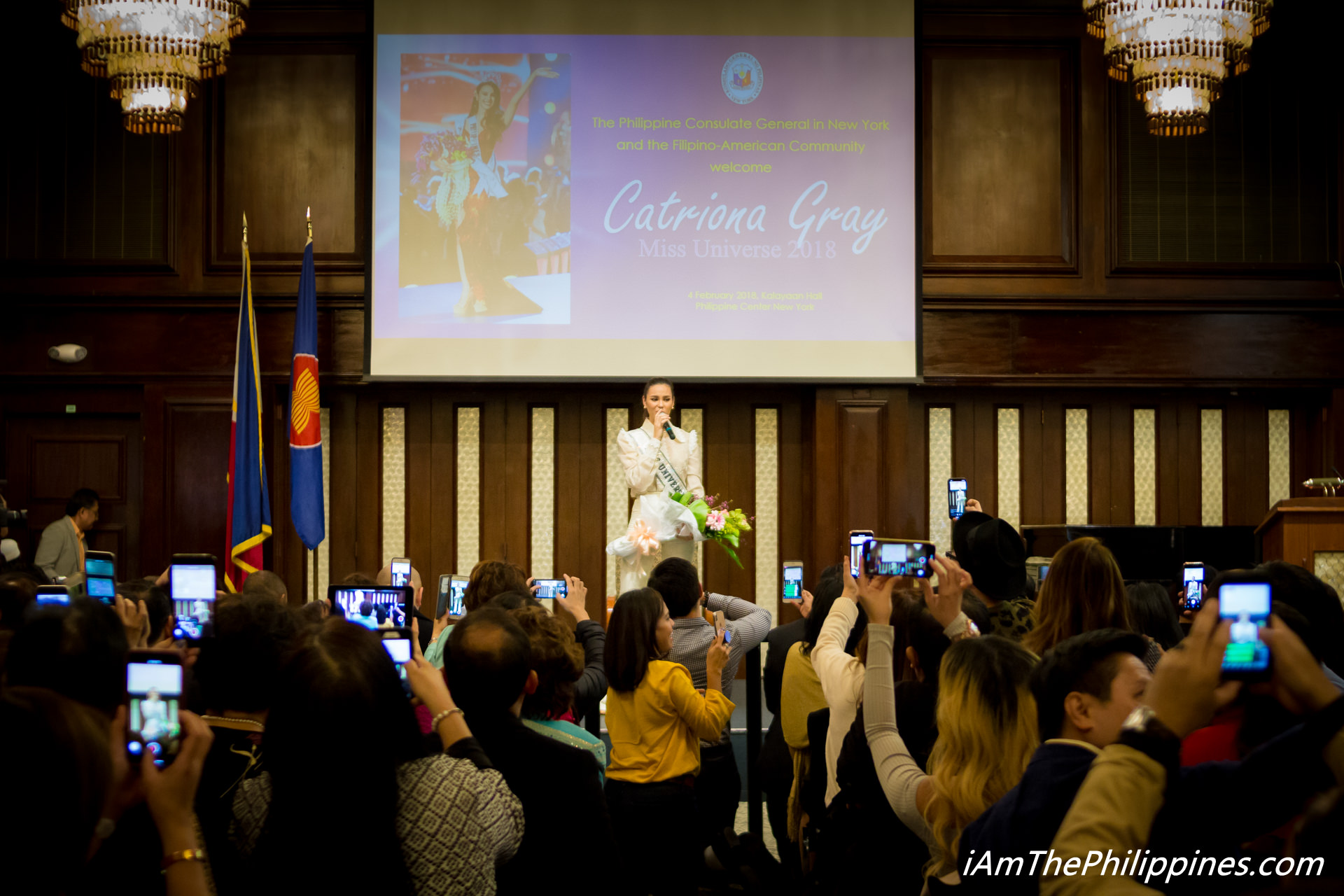 Meet and Greet with Ms. Universe 2019 Catriona Elisa Magnayon Gray, organized by the Philippine Center in New York.