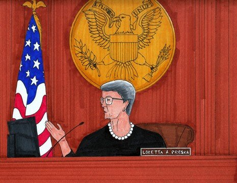 "Judge ""So What?"" Loretta Preska- Art by @WikileaksTruck"