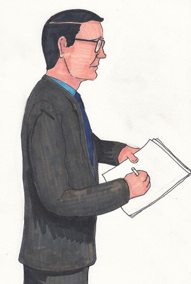 US Assistant Attorney James Pastore - Art by @WikileaksTruck