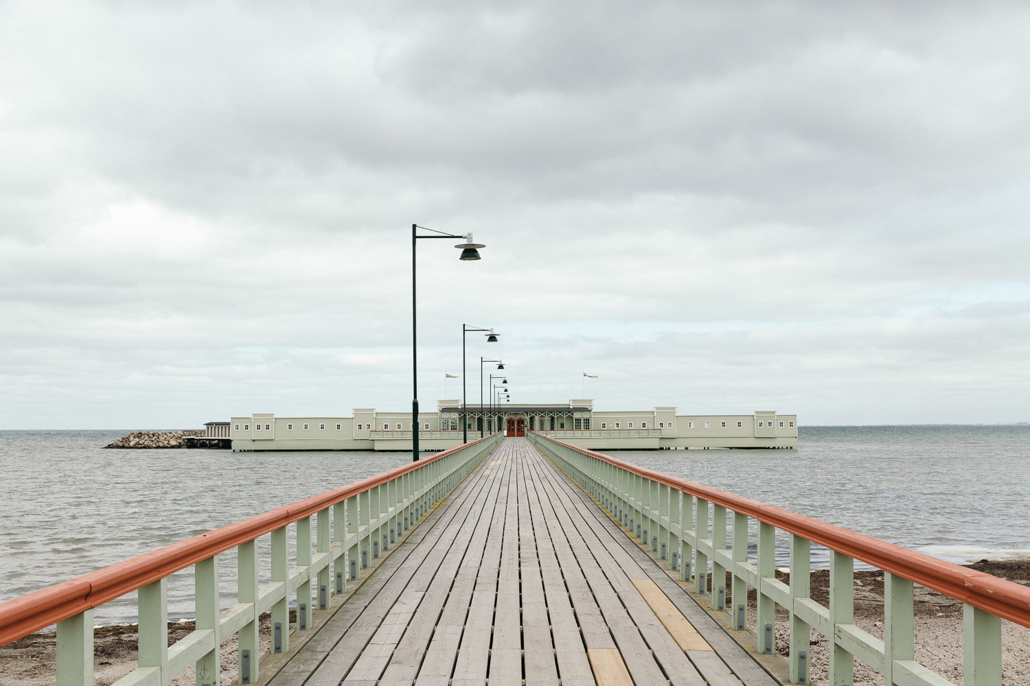 This place is like a Wes Anderson's movie set; Ribersborgs Kallbadhus,Malmö
