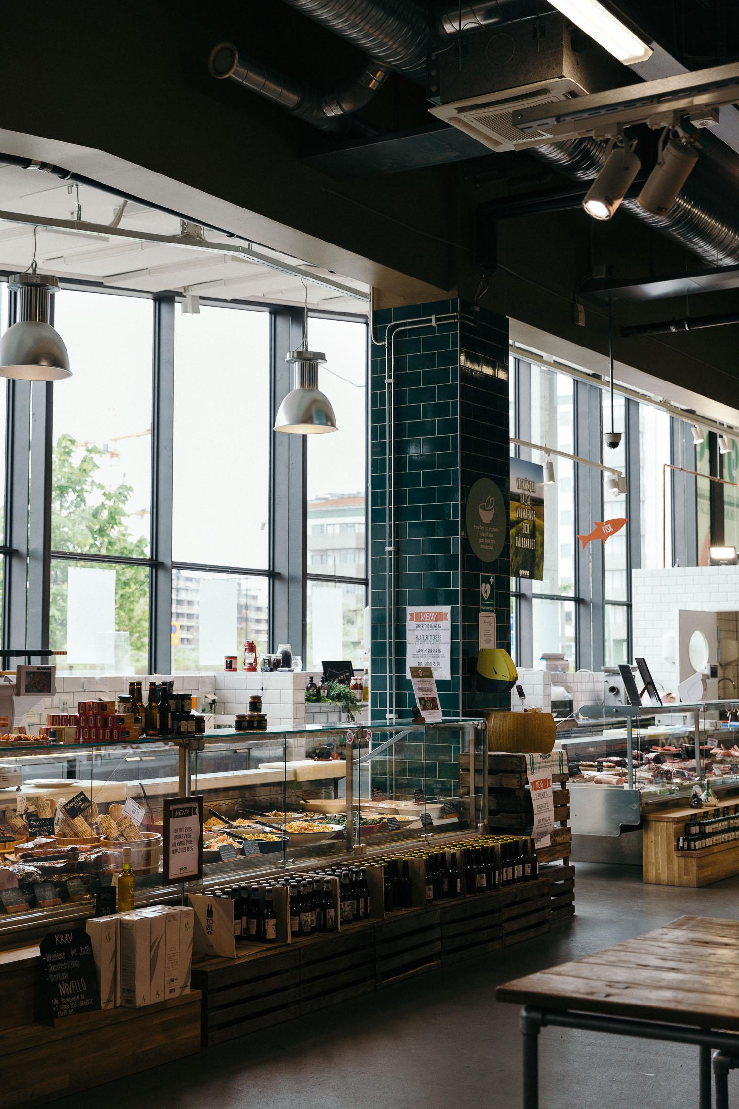 Organic food at Green Matmarknad