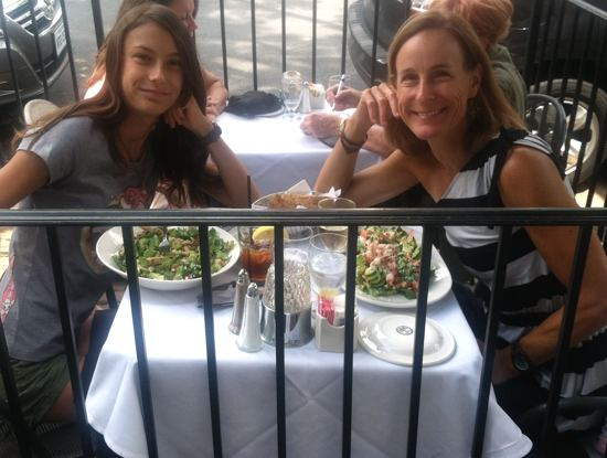The ladies, lunching.