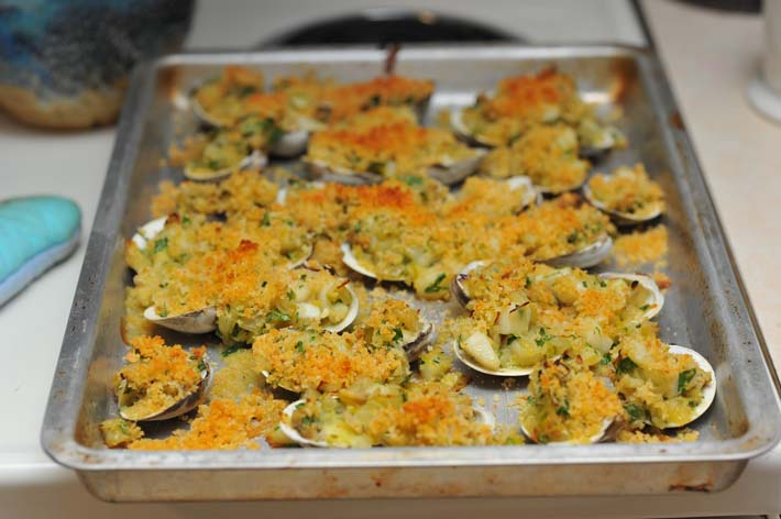 Baked clam jackpot.