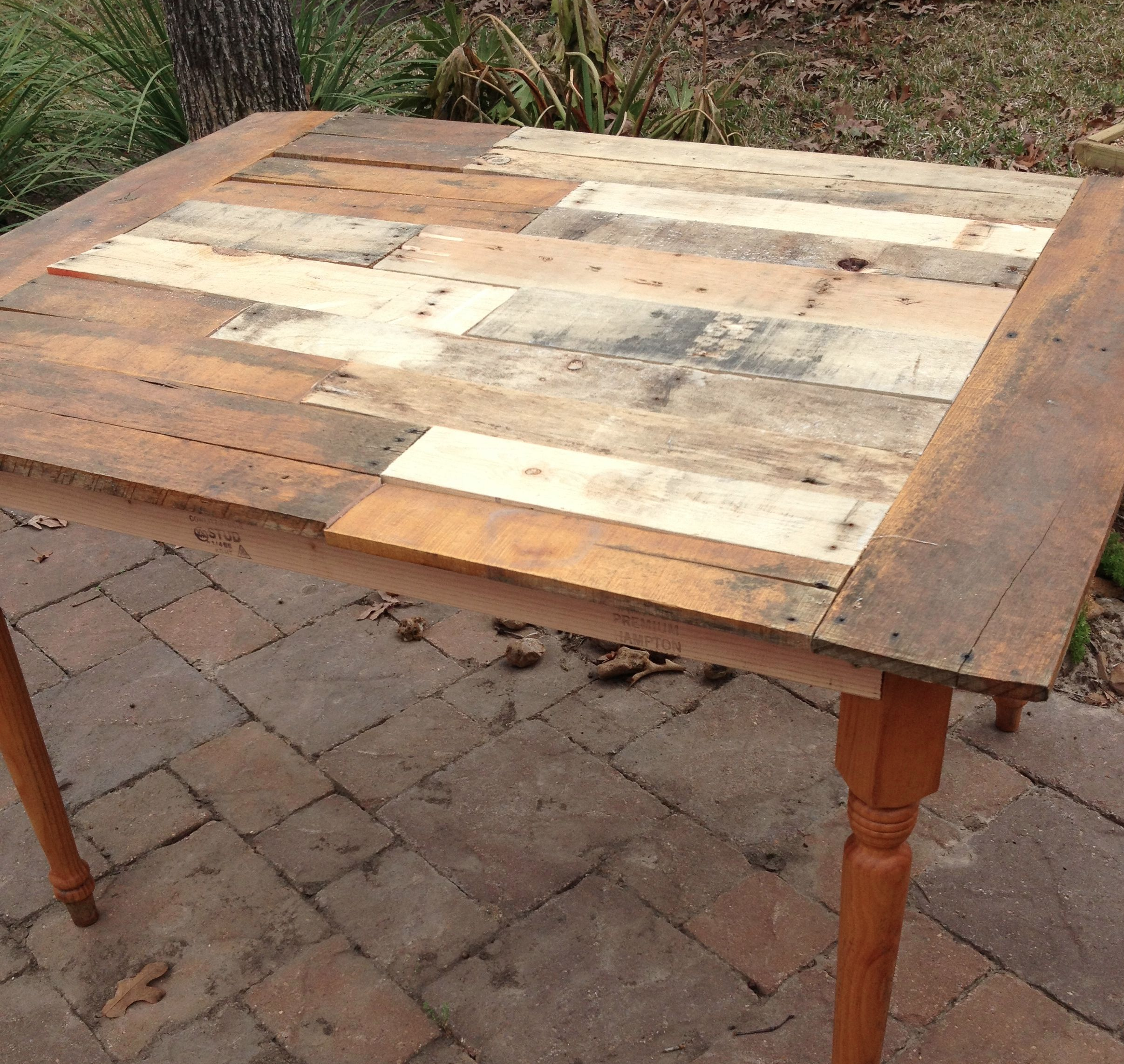 Hey look, it's a table made from a pallet.