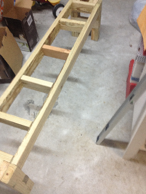 Framed out benches
