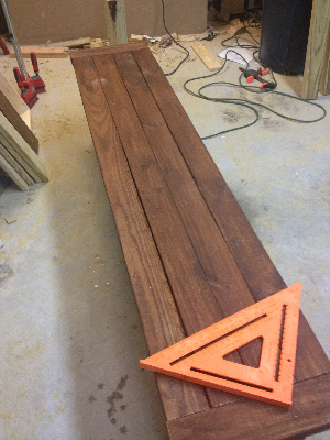 Stained out benches