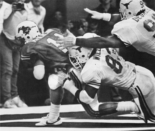 SMU/Texas a rivalry of the early 80's.