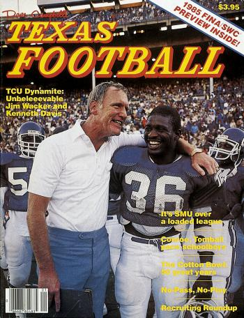 The 1985 Texas Football Cover