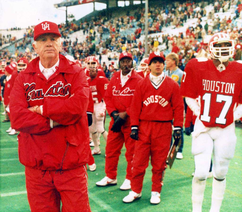 Yeoman at the 1985 Cotton Bowl.  Photo:   Gary Weber