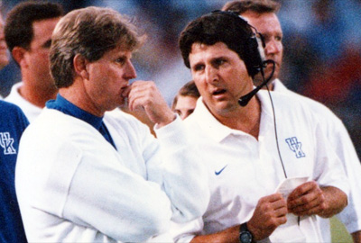 Leach with Hal Mumme at Kentucky