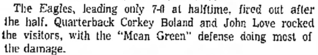 From the Denton Record-Chronicle, November 20, 1966.