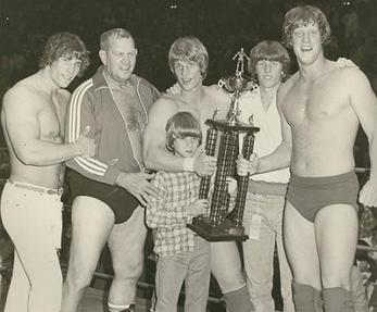 The Von Erich Family. Fritz second from left.