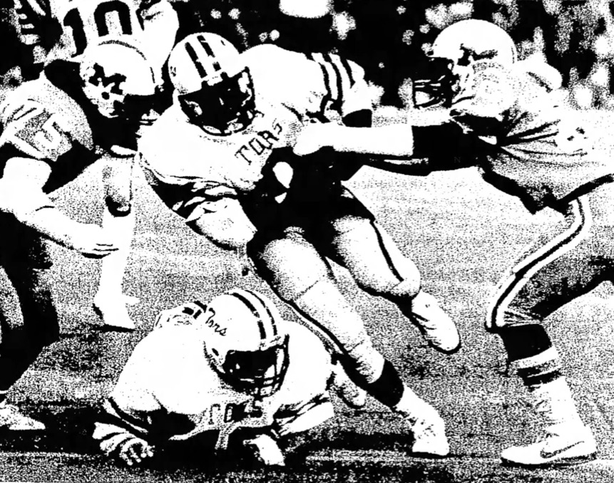 Anders running through Madison in the 1984 Playoffs.