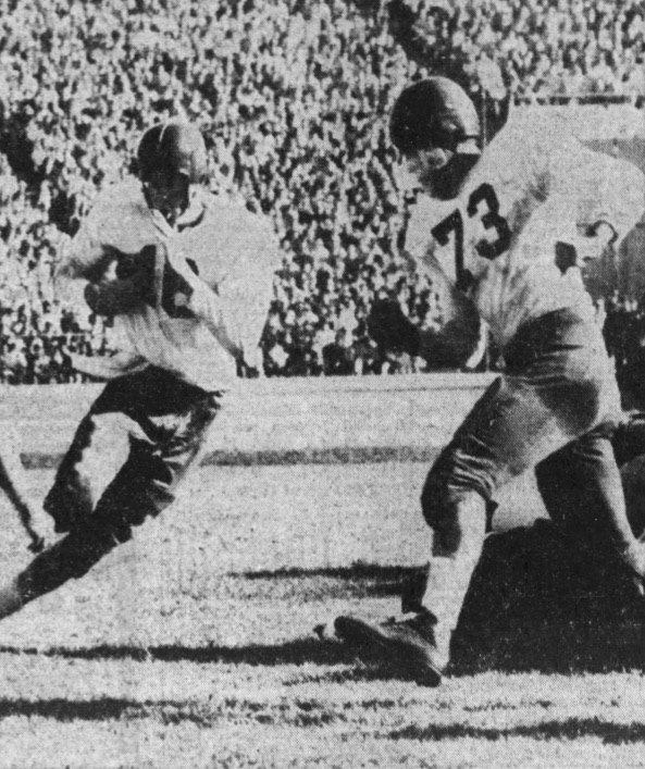 Gregg (#73) playing for the Ponies in 1954.