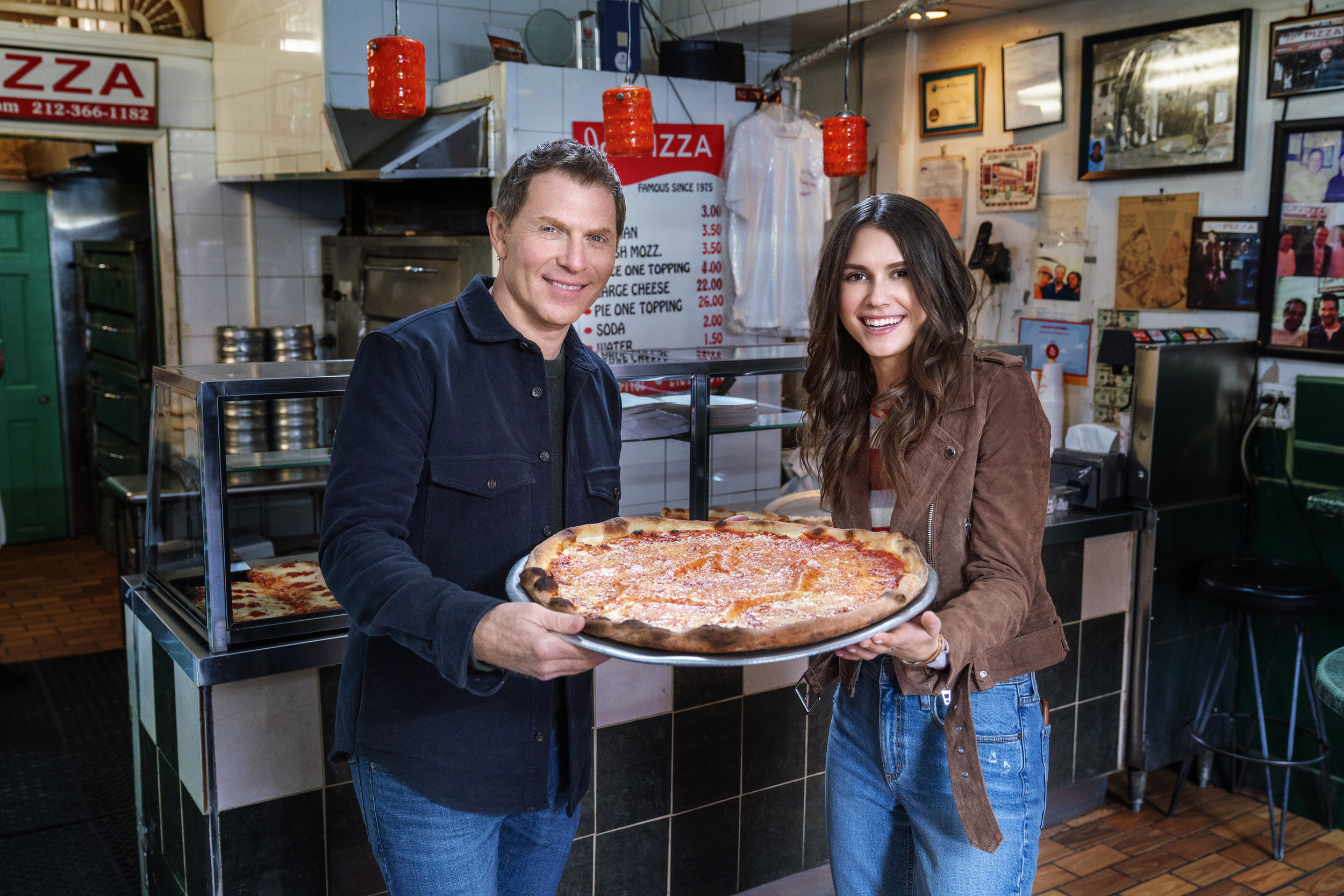 Bobby and Sophie Flay at Joe's Pizza, as seen on The Flay  List.jpg