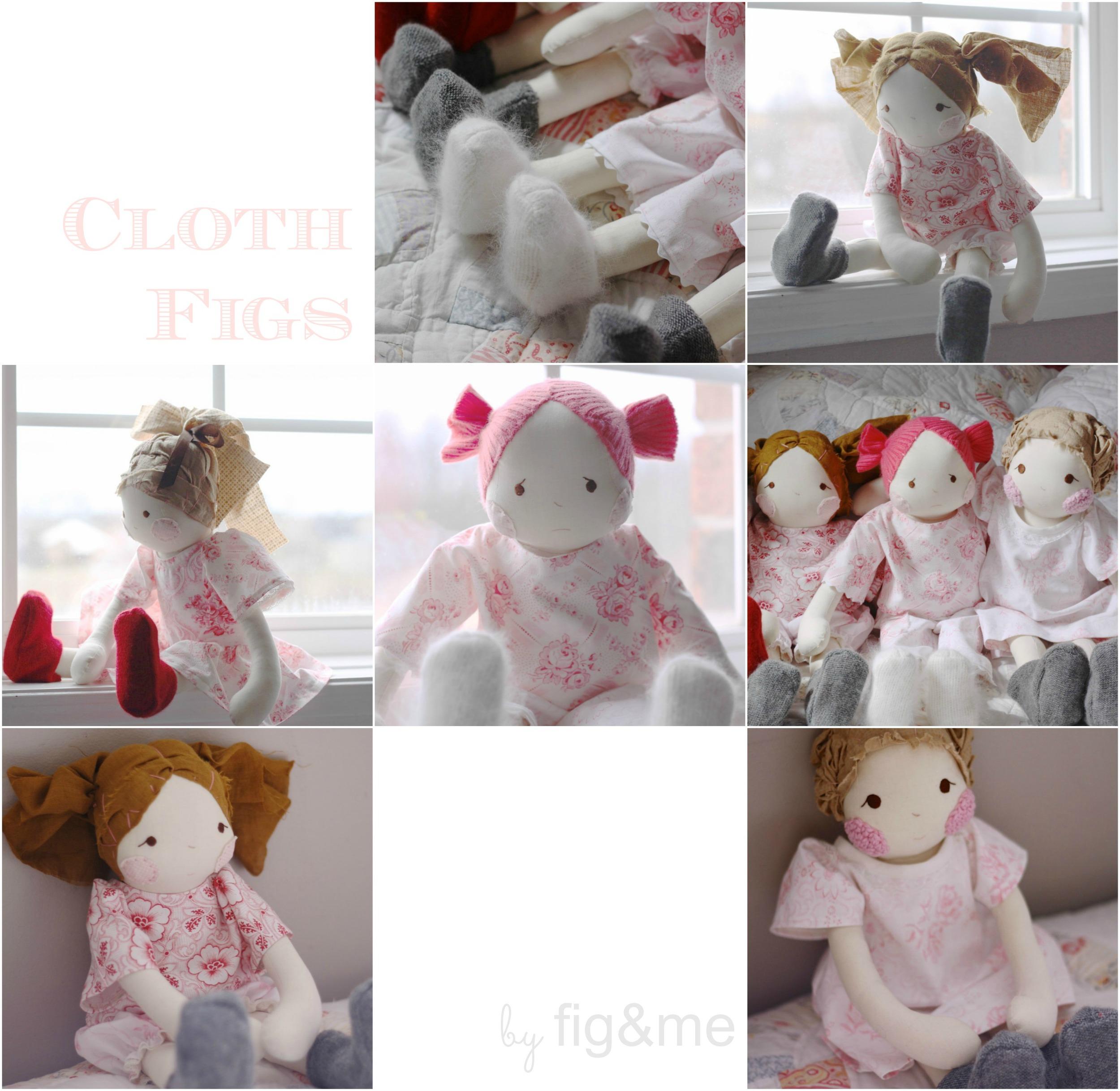 Handmade cloth doll, natural.