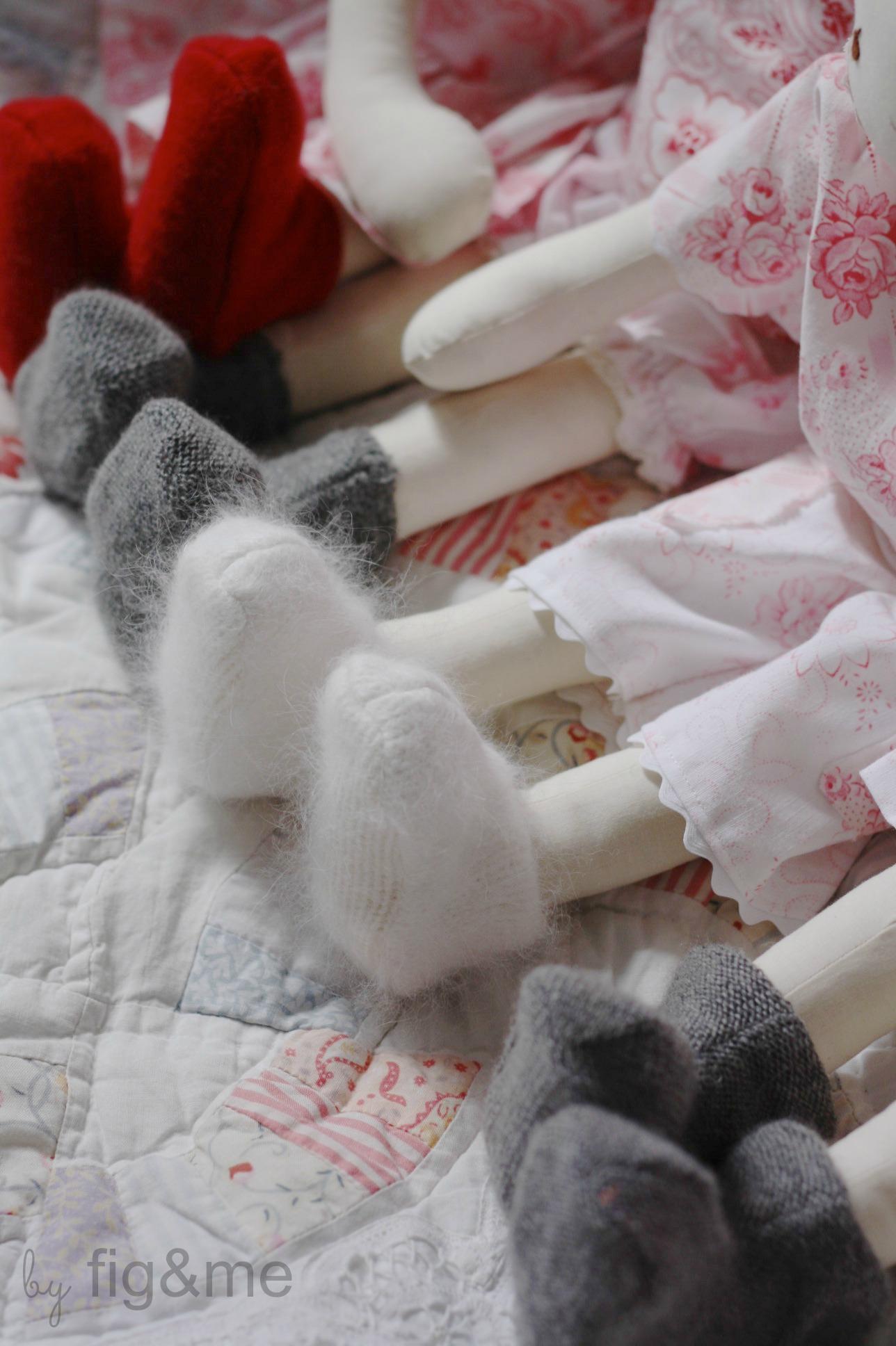 Handmade doll shoes