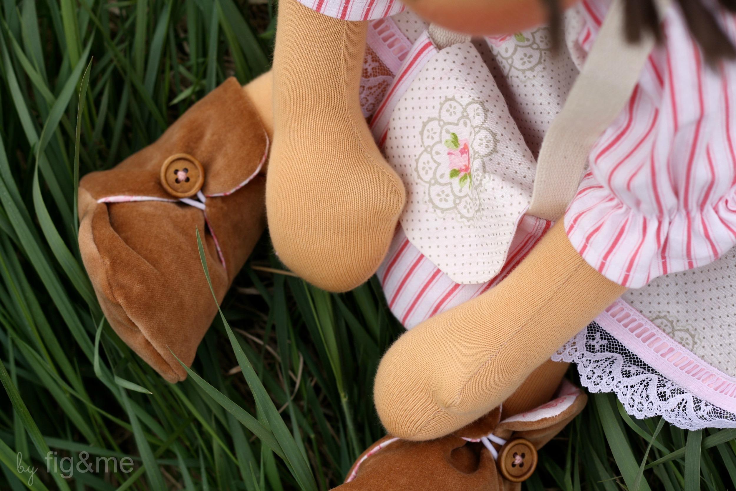 handmade doll boots