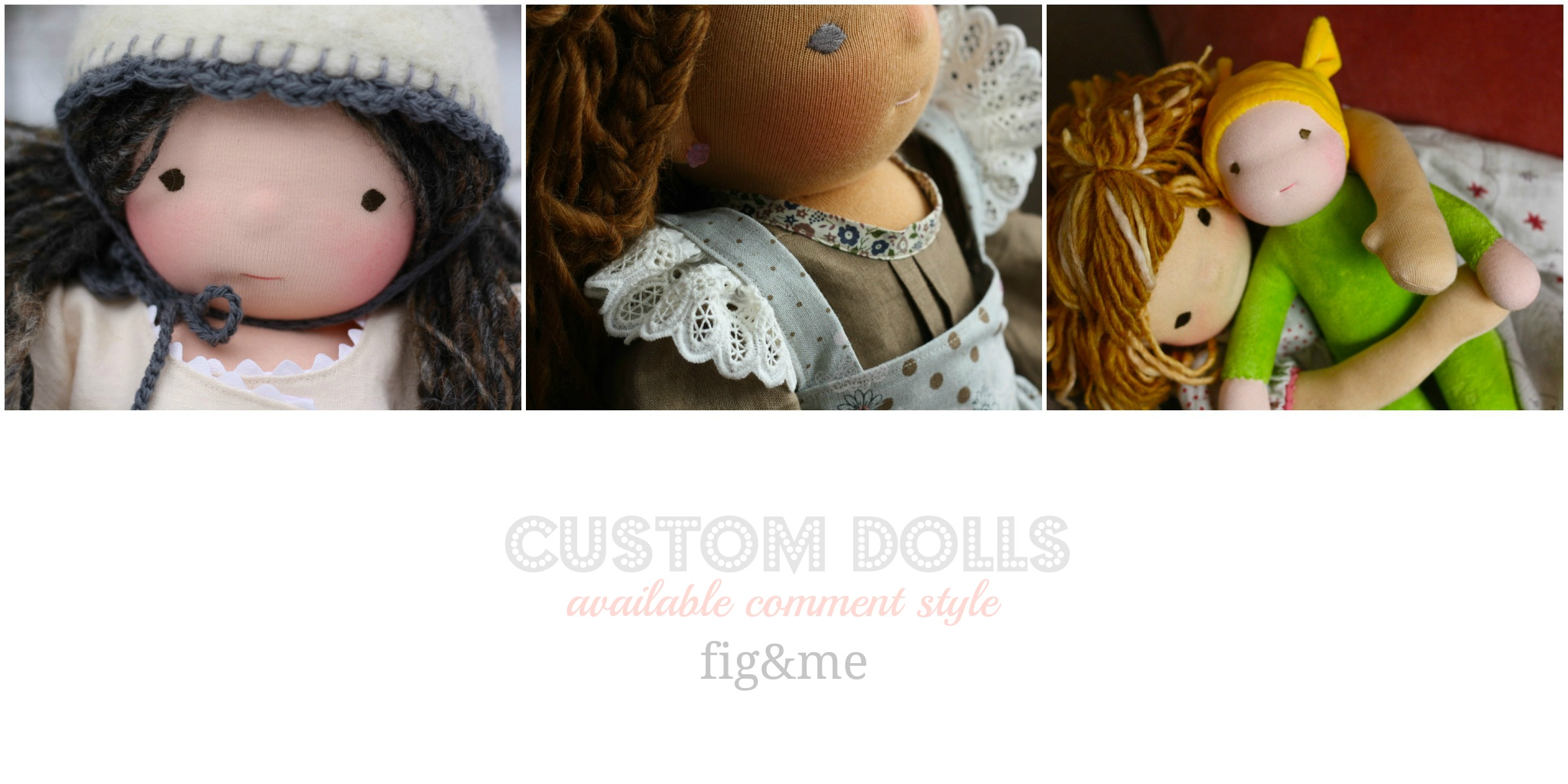 custom handmade dolls by fig and me