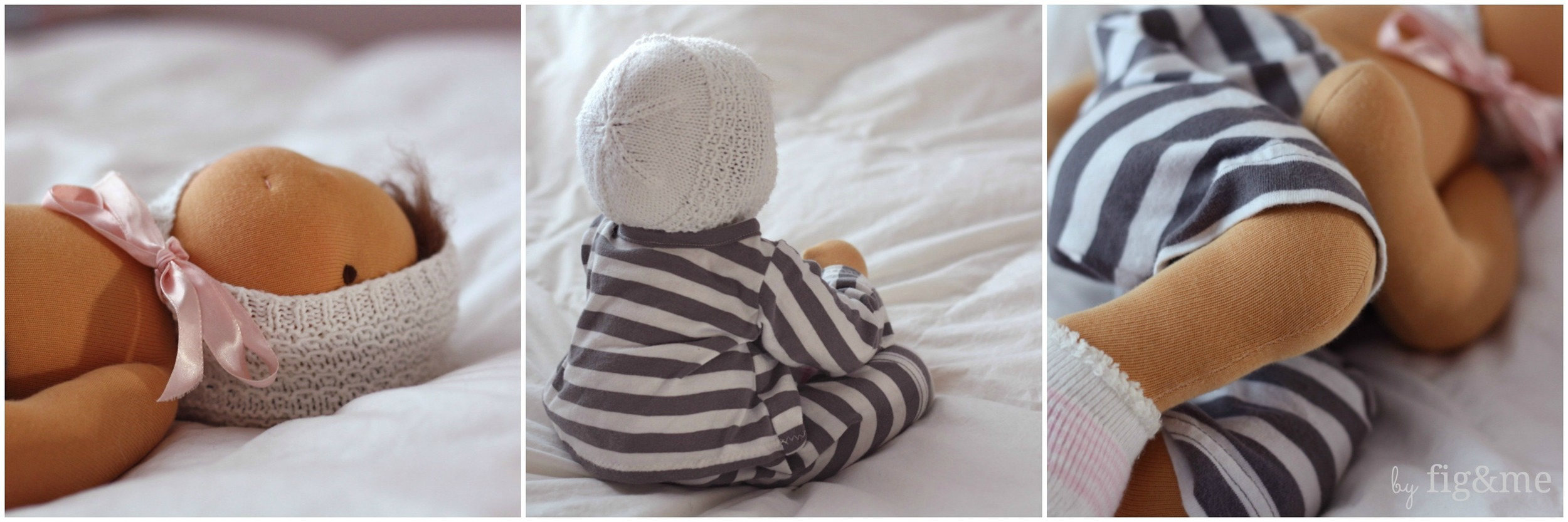 handmade baby cloth doll by fig and me