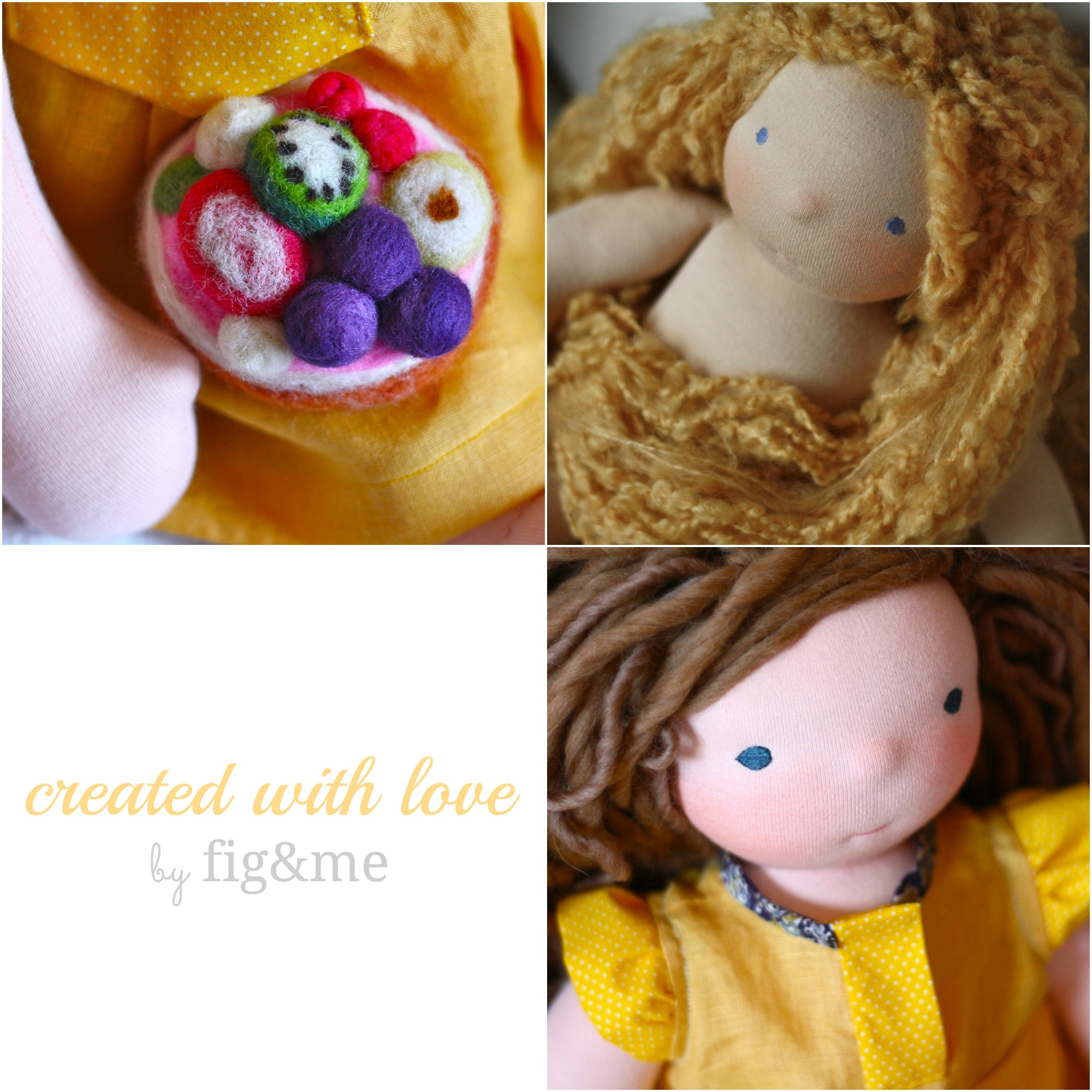 handmade custom waldorf style dolls by fig and me