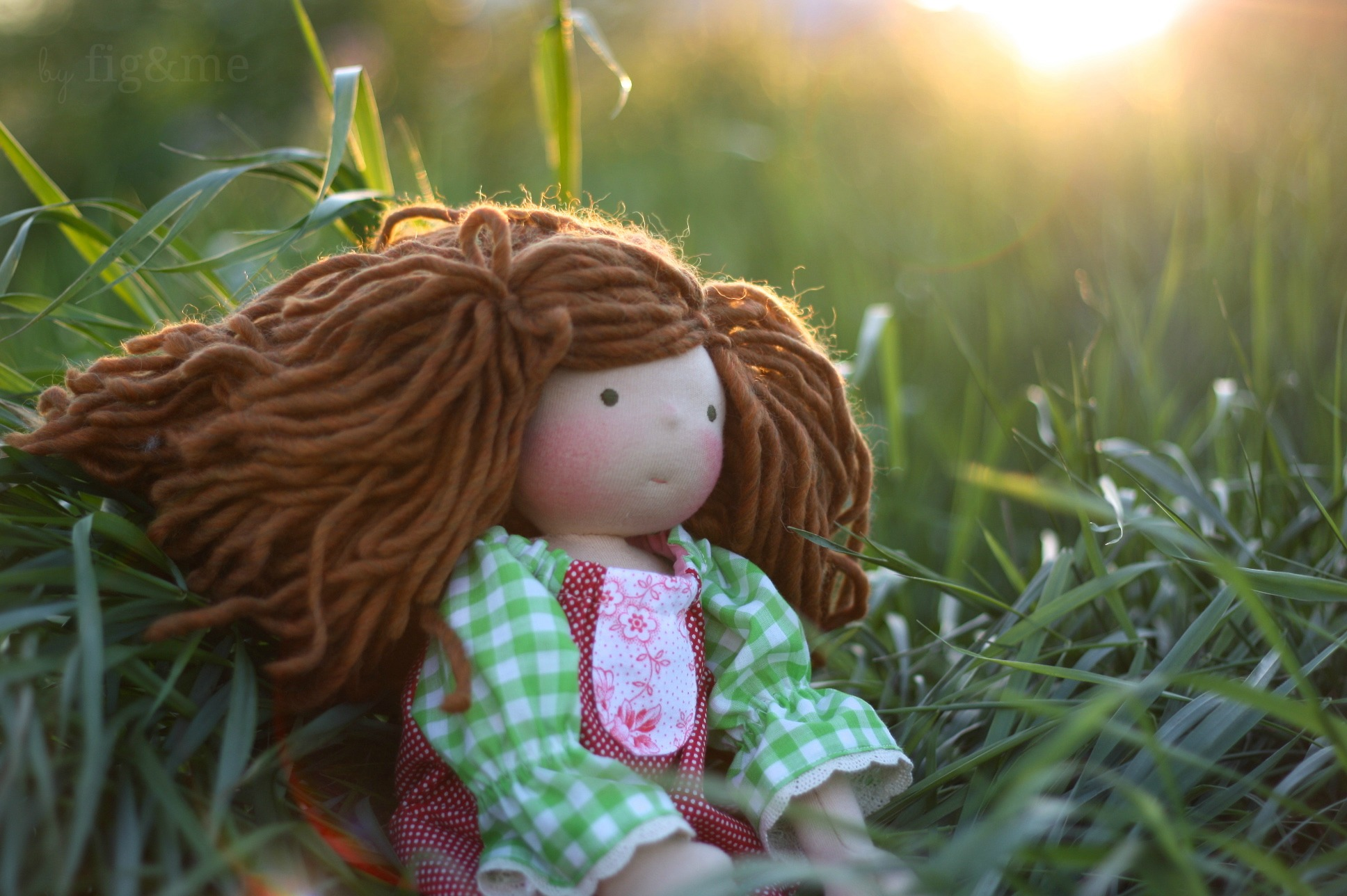 handmade natural doll by figandme