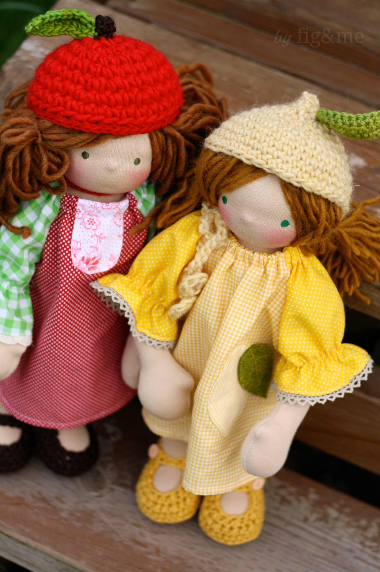 Sweet little fruity girls, by fig and me