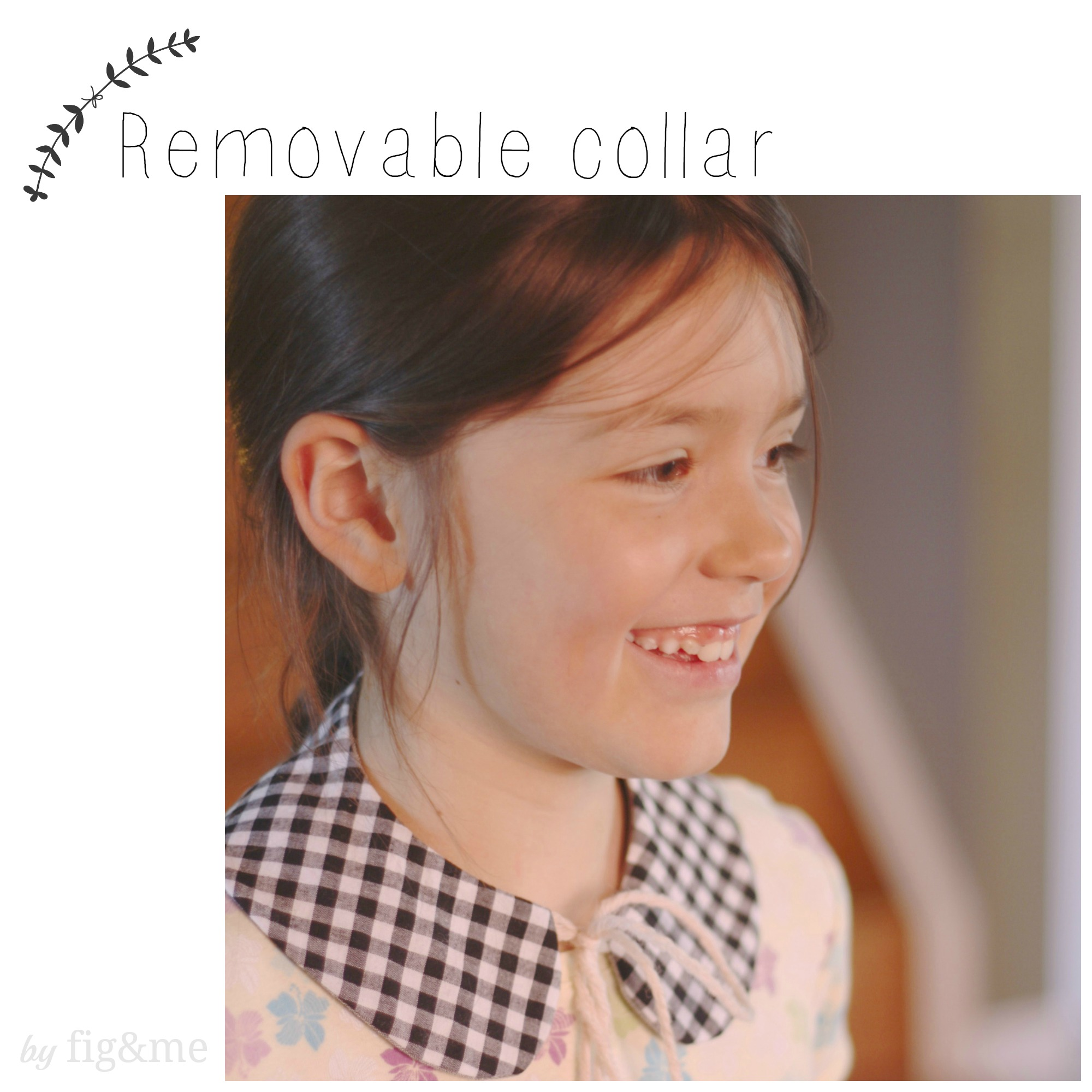 sew a removable peter pan collar by fig and me