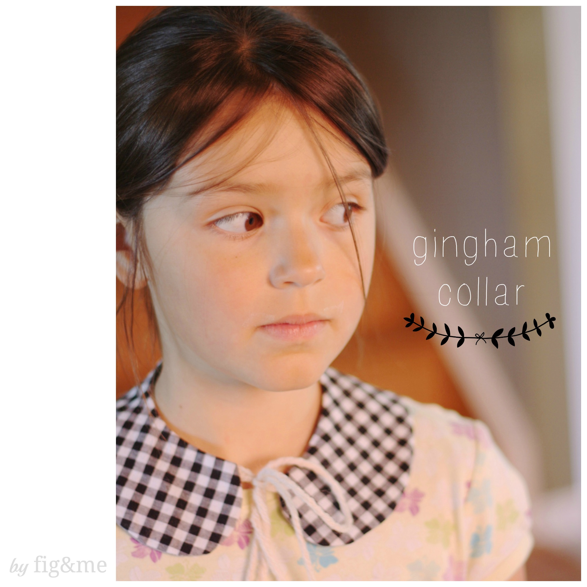 handmade gingham collar by fig and me.