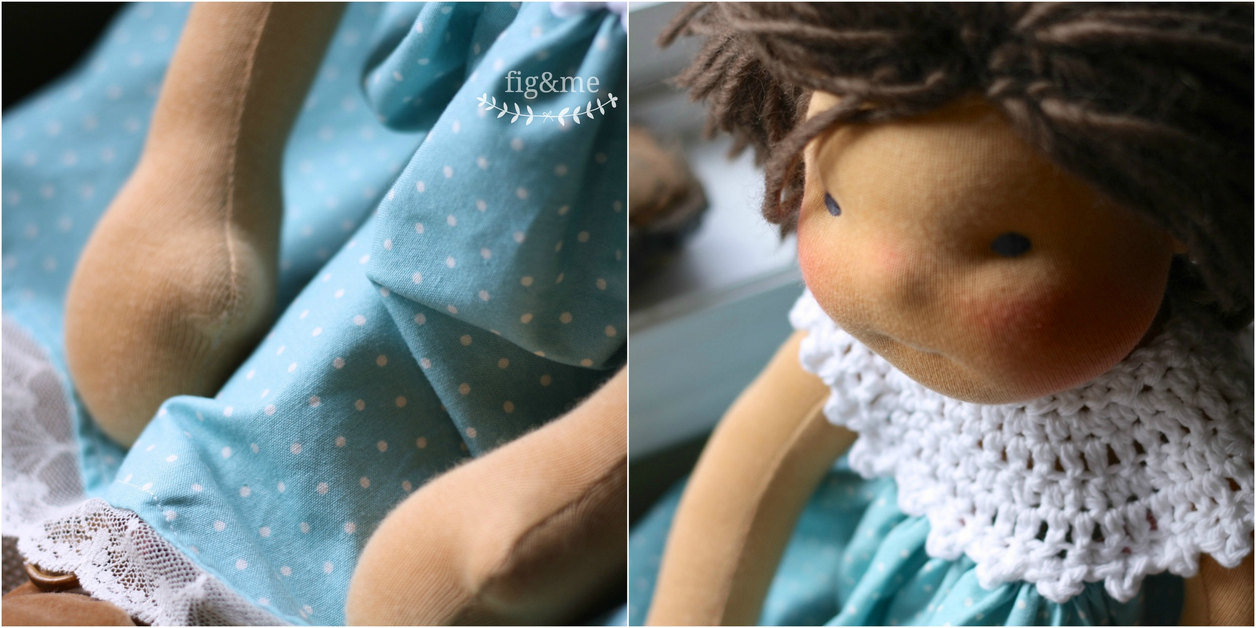 Fancy party dress with polka dots, by Fig and Me.