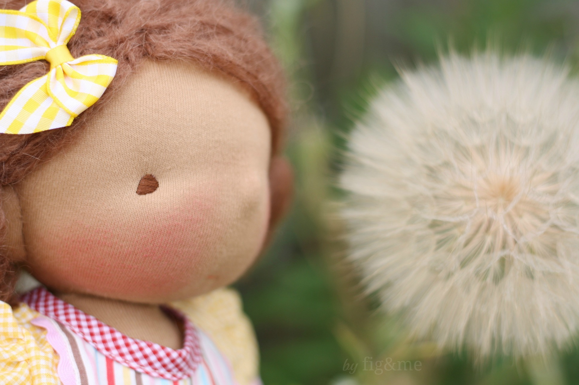 A handmade natural doll by Fig and me.