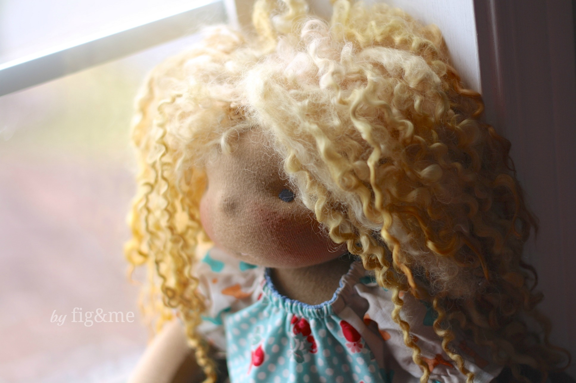Little Beau, a handmade natural doll, by Fig and me.