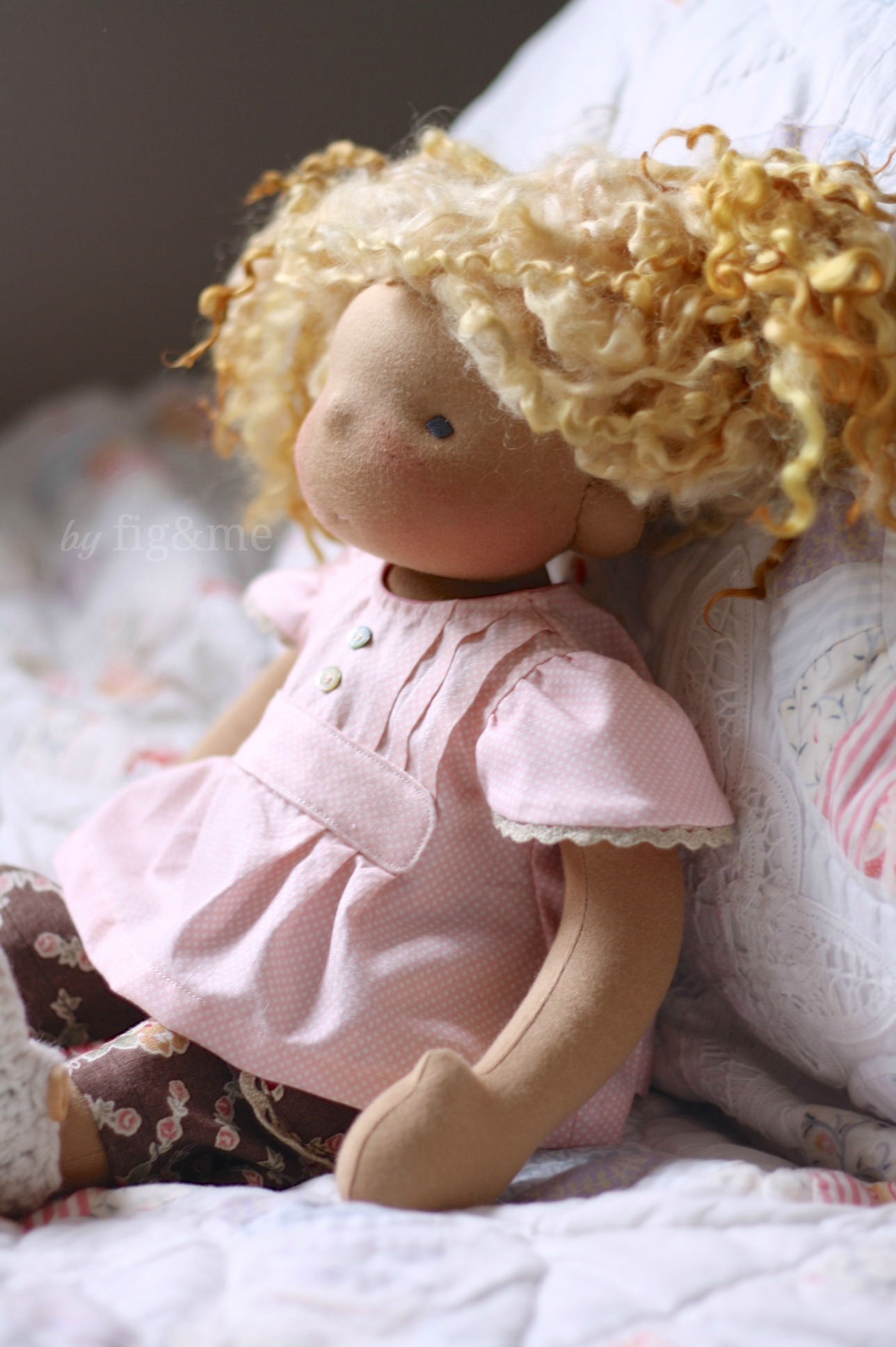 Little Beau in her play clothes, by Fig and me.