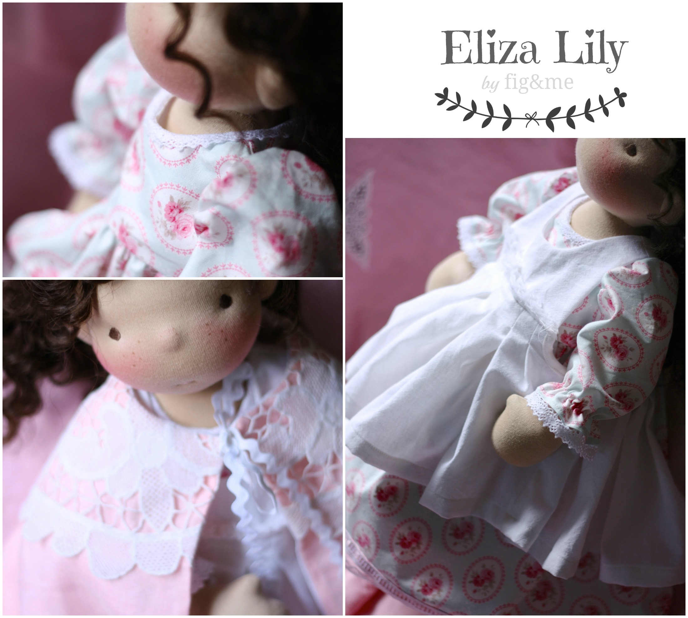 Eliza wearing her beautiful handmade clothes, a true princess. By fig and me.